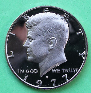 1977 S Proof Kennedy Half Dollar Coin 50 Cent JFK from Proof Set 50c