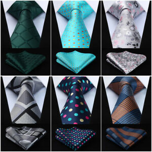 c2d2d182f330 Image is loading Hisdern-Mens-Ties-Classic-Woven-Necktie-Pocket-Square-
