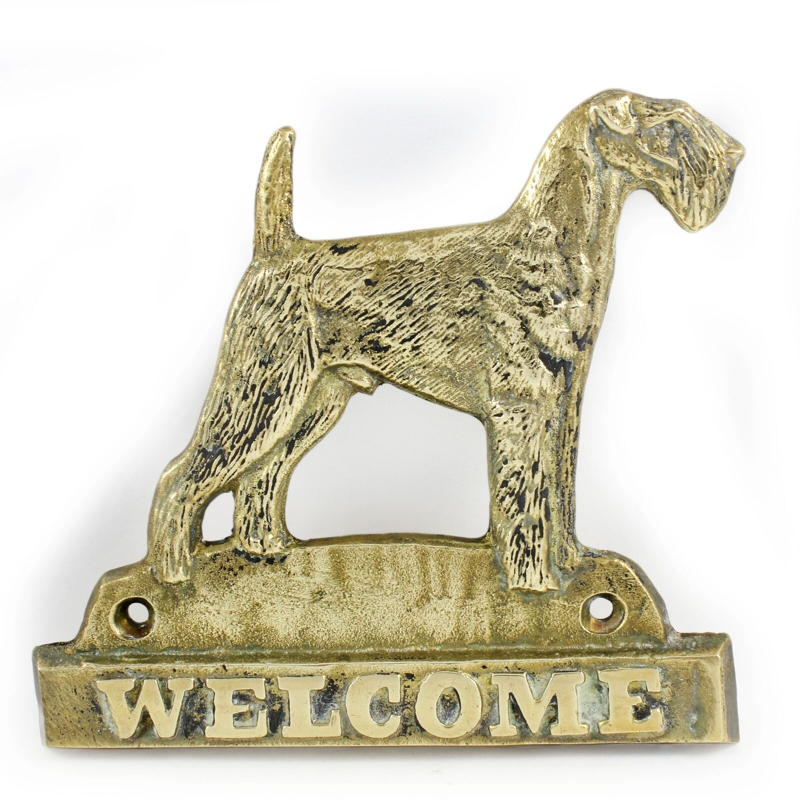 Airedale Terrier - brass tablet with image of a dog, Art Dog