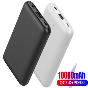 Portable Power Bank 10000mAh Dual USB C External Battery Charger For Cell Phone