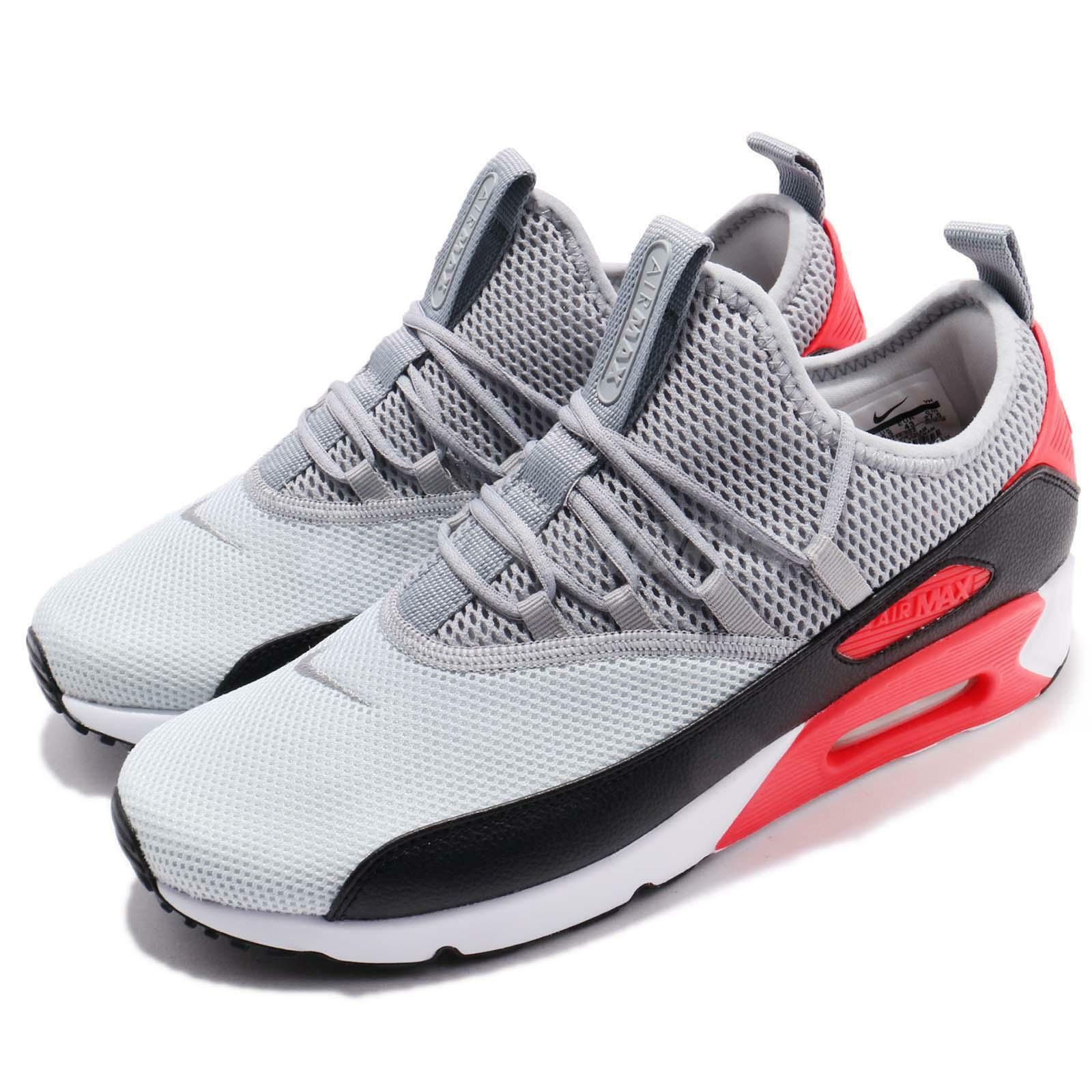 Nike Air Max 90 EZ Grey Black Infrared Red Men Running shoes Sneakers AO1745-002