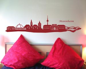 Samunshi Wandtattoo Mannheim Skyline Wandsticker   25 Farben 7 Größen