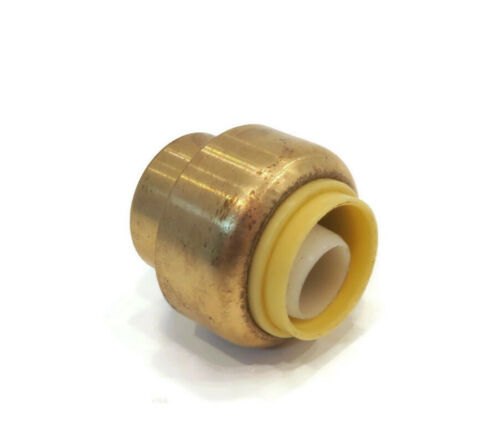 """New 1//2/"""" SharkBite Style LEAD FREE BRASS CAP Push Fitting replaces Nibco PX20500"""