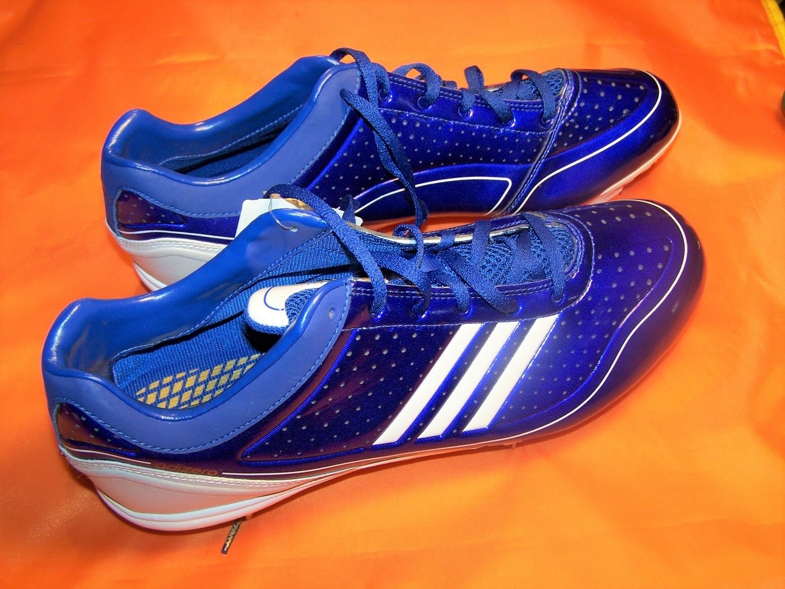ADIDAS ADIZERO DIAMOND KING SIZE 11 1/2 METAL CLEAT BASEBALL SHOES NEW WITH TAGS best-selling model of the brand