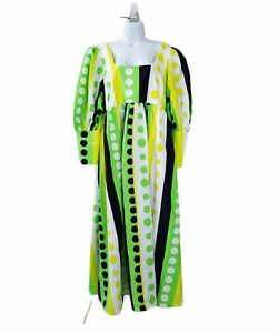 CHRISTOPHER JOHN ROGERS For Target 16W/18W Long Sleeve Polka Dot Maxi Dress EUC