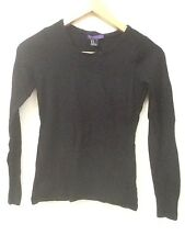 Forever 21 Black Knit Light Weight Sweater Top Shirt Casual Comfy M