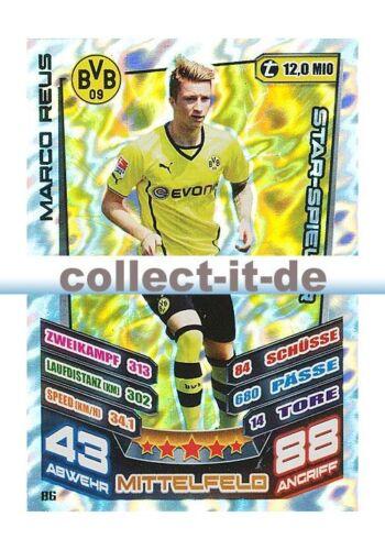 Match Attax 13//14-86-Marco Reus-Star-joueur