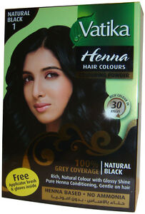 Dabur Vatika Natural Black Henna Hair Colour Powder No Ammonia