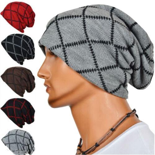 Fashion Men/'s Chapeau Automne hiver tricot Chapeaux Casquettes Chaud skullies Beanies Bonnet