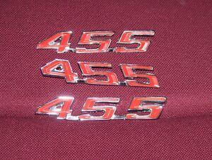 Details about 67 68 69 PONTIAC FIREBIRD 455 HOOD & TRUNK CUSTOM EMBLEMS  1967 1968 1969 BADGE