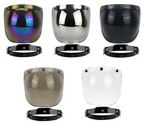 Visiera-reclinabile-bubble-a-bolla-caschi-jet-tre-bottoni-custom-cafe-racer