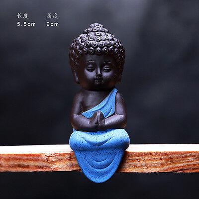 Small Buddha Statue Statuette Yoga Decor Ceramic Handicrafts Ornaments Home Cute