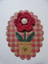 Scrapbooking~Card making~ Die Cut~Embellishment~Paper Piecing ~ Crochet Flower