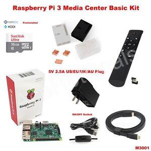 Details about Raspberry Pi 3 Model B wifi case OSMC Media Center Basic Kit  M3001