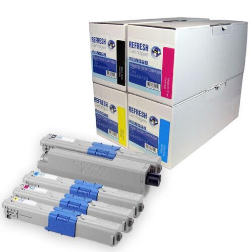 Refresh Kartuschen 44469804//722//723//724 Toner Kompatibel mit Oki Drucker