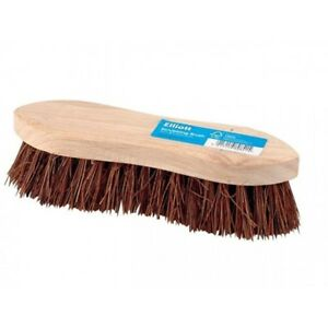 22-cm-Heavy-Duty-duro-Cepillo-de-cerdas-scrubbing-nuevo-20-cm-de-madera-de-doble-ala-Elliott