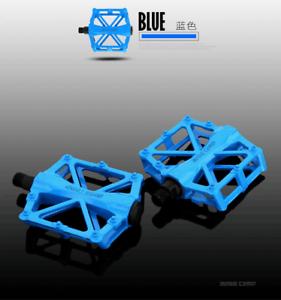 MTB Bike Pedals Aluminum Light Weight Bicyle Accessories 9//16 Inch Flat//Platform