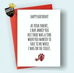 B60 Happy Birthday Greetings Card Son Daughter Rude Funny Adult Joke