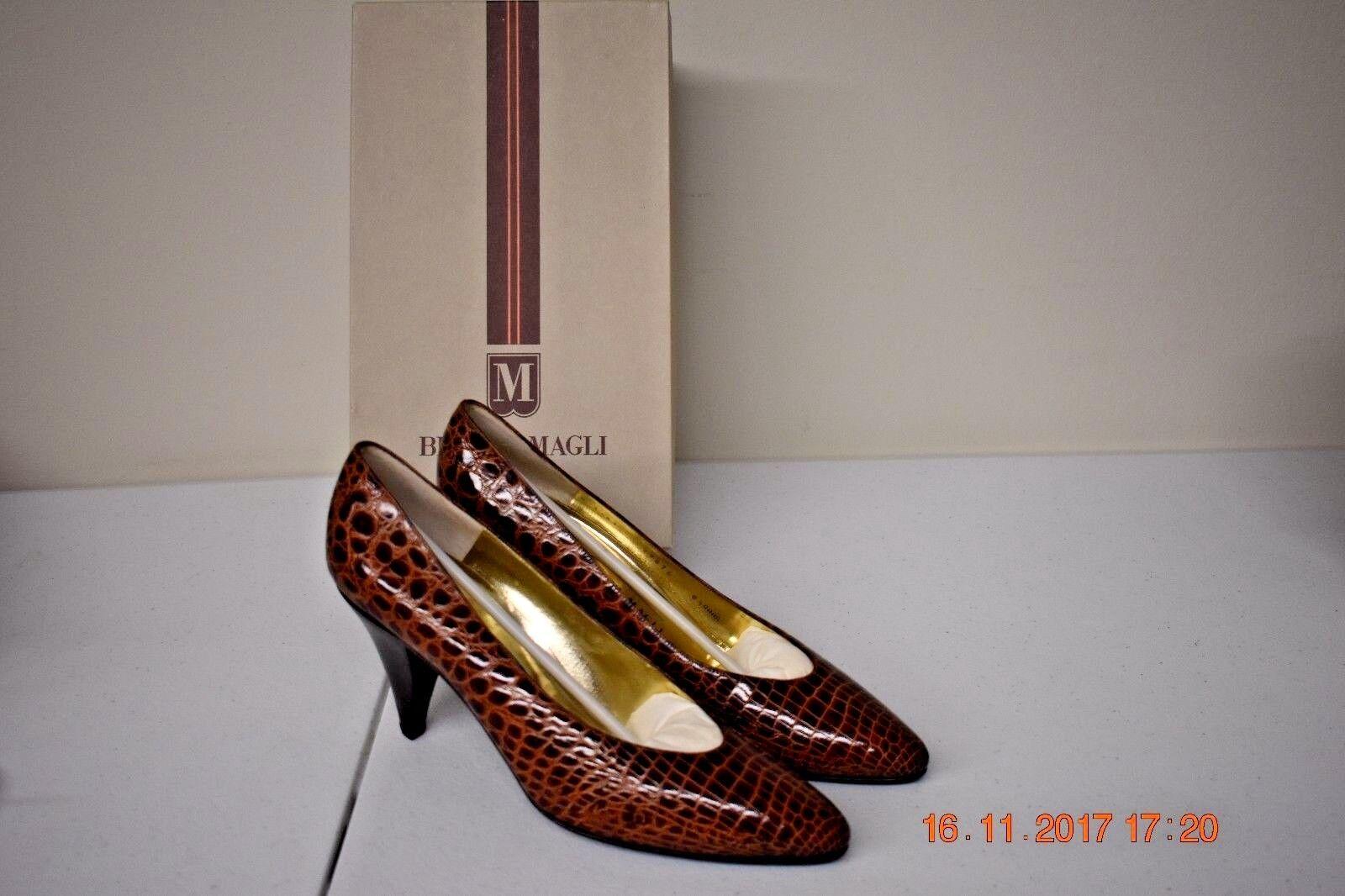 trova il tuo preferito qui BRUNO MAGLI MAGLI MAGLI Dimensione 8.5 AAAA Honey Leather Heel  controlla il più economico