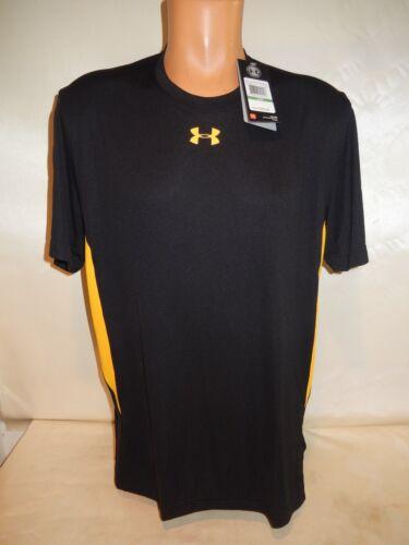 7905 Mens UNDER ARMOUR UA Zone Short Sleeve T-Shirt 1259076 BLACK//GOLD $30 NEW