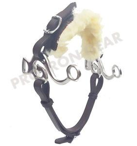Black Hackamore Bitless Horse Bit English Western Adjustable Leather