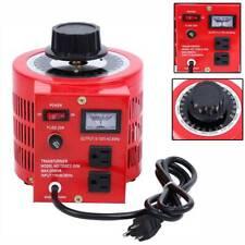 Transformer Variable Ac Voltage Regulator 2000w Metered 20amp Tool