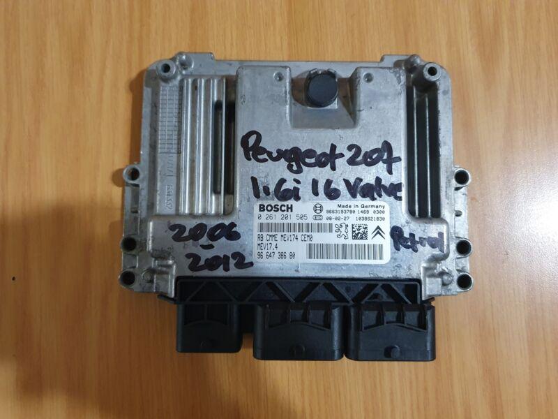 Peugeot 207 1.6i 16V 2006-2012 Bosch ECU part # 96 647 386 80