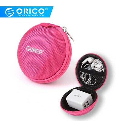 Travel Gadget Case Organizer Round Storage Bag Pouch For Headphone USB Cable Mp3