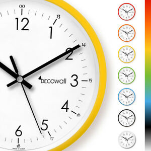 "Decowall DSH-M22 8.8"" Silent Non-ticking Modern Metal Wall Clock Home & Office"