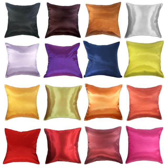 """20/"""" Green Cushion Pillow Cover Solid Taffeta  Silk Sofa Throw Home Decorative"""