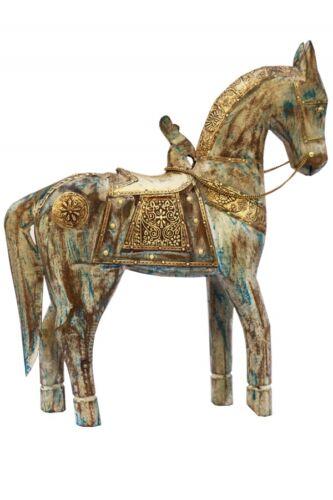 Jardin Chambre Dekofiguren deco personnage Animaux Bois Cheval sculptures chevaux 38