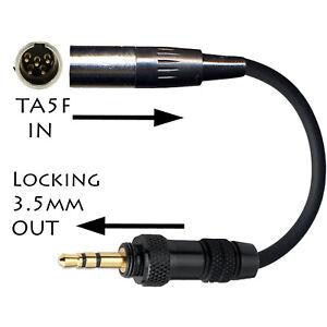 5-Pines-Mini-XLR-ta5f-Lectrosonics-Microfono-Adaptador-body-pack-transmisor-TX