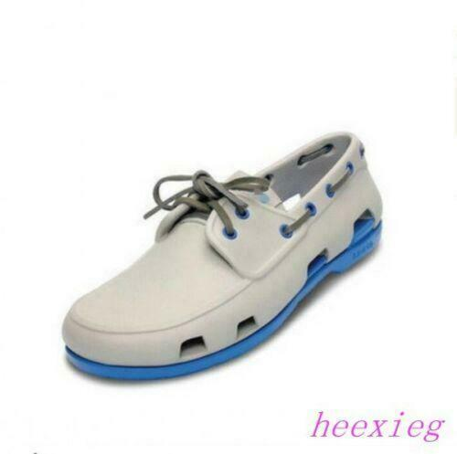 Summer Fashion Mens Boat Loafers Lace Up Breathable Casual Beach Flat Sandals 9