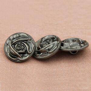White Pearled Rose 23 mm Shank Buttons