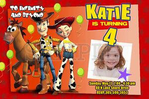 Toy Story Fiesta De Cumpleanos Invitacion Foto Jessie 1st 1 2 3