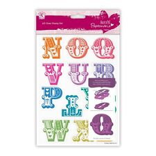 DOCRAFTS PAPERMANIA A5 CLEAR STAMP SET CARNIVAL ALPHABET LETTERS N-Z - NEW