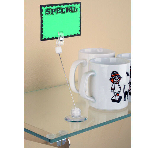 10 pieces Sign Holder with Suction Cup and Clip Ships from US
