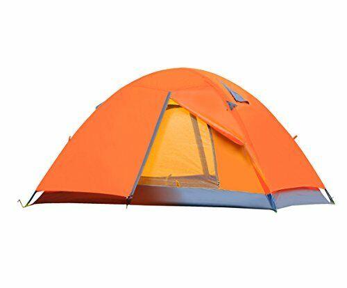 Cctro Backpacking tentes 2 personne Double Couche Imperméable à L/'Eau 3 Saison Tente Camping