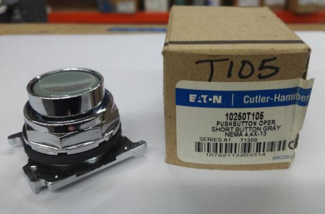 Cutler Hammer 10250T105 Ser A1 Pushbutton Operator Gray 10250 T105 30mm 2-Pos