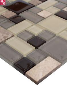 Glasmosaik Marmoriert Mosaik Mosaikfliesen Fliesen Schwarz Weiß Grau - Schwarz marmorierte fliesen