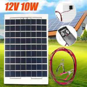 10W-12V-Camping-Solar-Panel-Cell-Module-4m-Cable-Battery-Charger-For-RV-Car-Boat