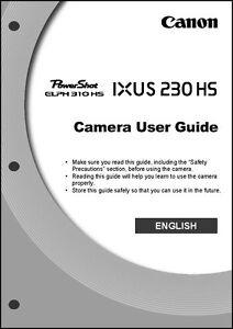 Canon elph 310 hs ixus 230 hs digital camera user guide.