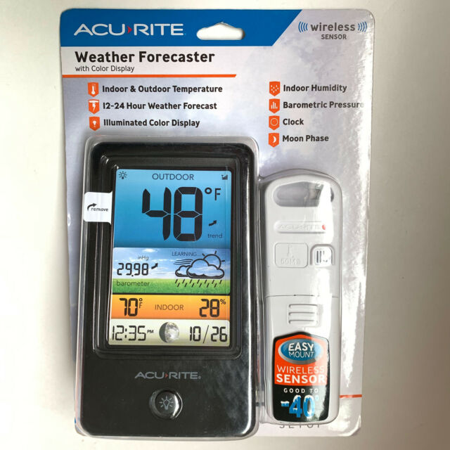 AcuRite Color LCD Weather Forecaster - Compact Weather Monitor