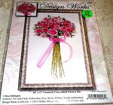 "Design Works Counted Cross Stitch Kit ROSE BOUQUET 10"" x 17"""