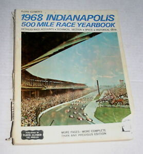 1968-CLYMER-YEARBOOK-INDY-500-INDIANAPOLIS-BOBBY-UNSER-STP-TURBINES-DAMAGED