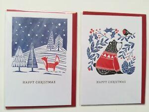 """2 edle englische Weihnachtskarten von /""""The Art File/"""" /""""Winter Woodland/"""""""