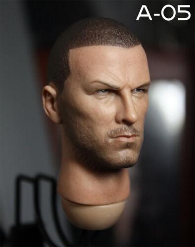 1//6 David Beckham Head Sculpt  Male Head Model F Narrow Shoulder Figure Body Toy