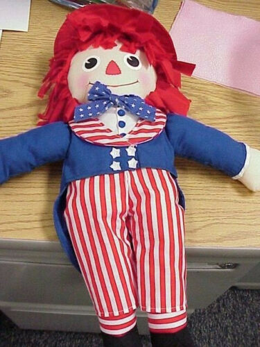 """New with Tags Salute to Liberty Raggedy Ann /& Andy 15/"""" dolls Applause"""