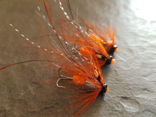 Willie Gunn Orange PIGLET Tube Flies FREE HOOKS