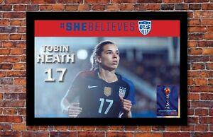 2019 Womens World Cup Soccer Tobin Heath Poster 13 X 19 Inches
